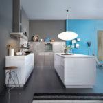 Зонирование цветом кухонного пространства