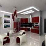 Стильная мебель в интерьере кухни