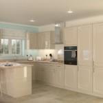 Кухонный гарнитур в нейтральных тонах