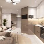 Дизайн современной кухни с удобным диваном