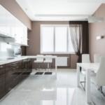 Наливной пол в интерьере кухни