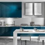 Синяя кухня в стиле модерн