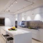Светодиодное освещение кухни с белыми стенами