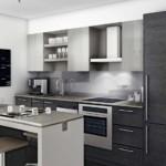 Серый фасады кухонной мебели