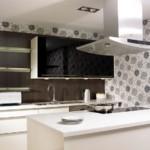 Дизайн кухни с потолочной вытяжкой