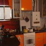 Морковные фасады кухонной мебели