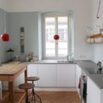 Современная кухня без подвесных шкафчиков