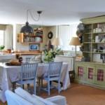 Интерьер кухни в деревенском доме