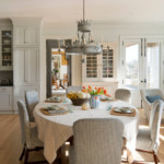 Обеденная зона кухни в частном доме