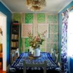 Яркие шторы с растительным рисунком