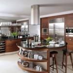 Кухонный остров круглой формы