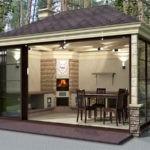 Дизайн-проект летней кухни закрытой конструкции