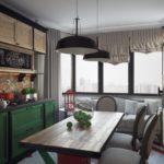 Дизайн кухни в стиле лофт в городской квартире