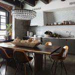 Плитка кабанчик в интерьере кухни
