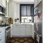 Дизайн кухни с паркетным полом
