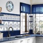 Керамическая мозаика в дизайне кухни