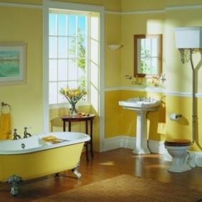 Ретро-сантехника в интерьере ванной