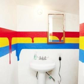 Оригинальный декор стен в ванной комнате