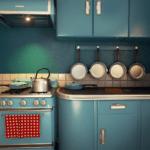 Ретро техника для кухни в частном доме