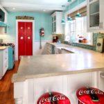 акценты красного цвета в дизайне кухни