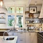 Обустройство кухни без подвесных шкафов