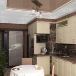 Светильник на потолке коричневого цвета