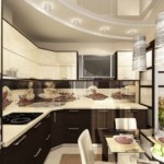Дизайн Г-образной кухни с гарнитуром в современном стиле