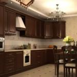 Классическая мебель из дерева для кухни