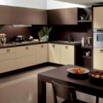 кухонный стол темно-коричневого цвета