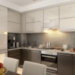 Кухонный фартук серого цвета