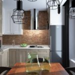 Элементы лофта в интерьере современной кухни