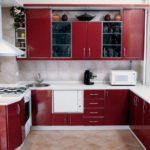 Гарнитур для кухни с нишей в стене