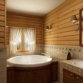 Акриловая ванна круглой формы