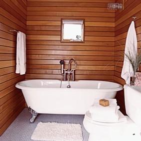 Горизонтальная обшивка стен деревянной вагонкой