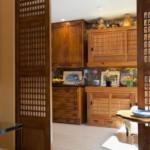 Решетчатые двери в кухню японского стиля