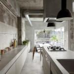 Кухонный остров с газовой плитой