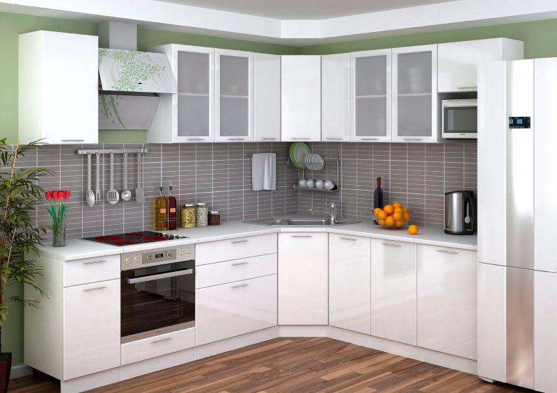 Дизайн угловой кухни площадью 9 кв метров