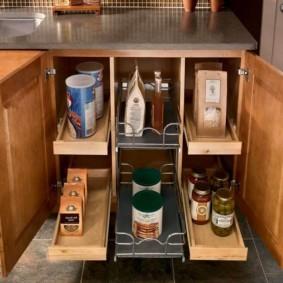 Удобные модули для хранения кухонной утвари