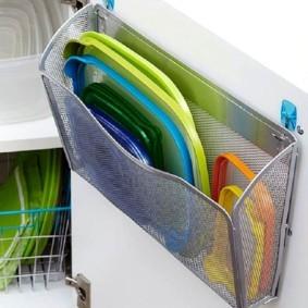 Сетчатая корзина для кухонной мелочевки