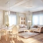 Дизайн зоны отдыха с двумя диванами