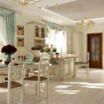деревянный пол белого цвета