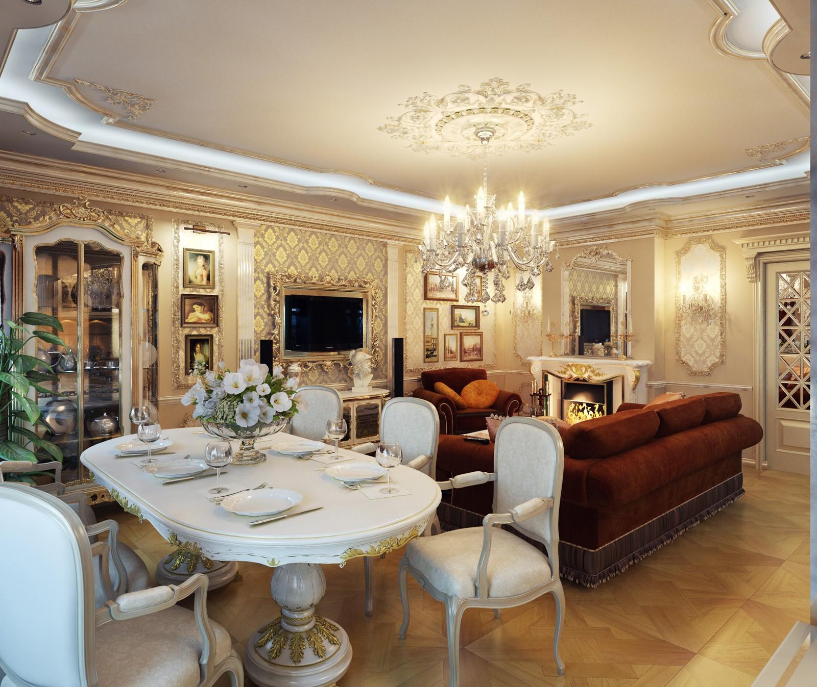 богатые дома потолок фото эту