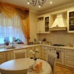 Короткие занавески над кухонной мойкой