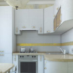 Желтая полоса на кухонном фартуке