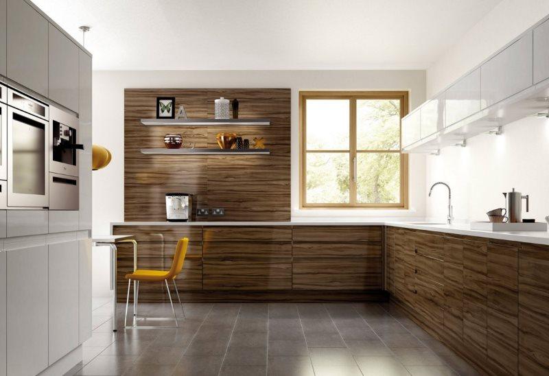 Угловая кухня в стиле минимализма