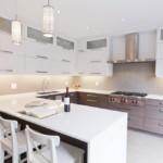 Освещение кухни с Г-образным гарнитуром