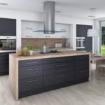 Серые фасады кухонной мебели