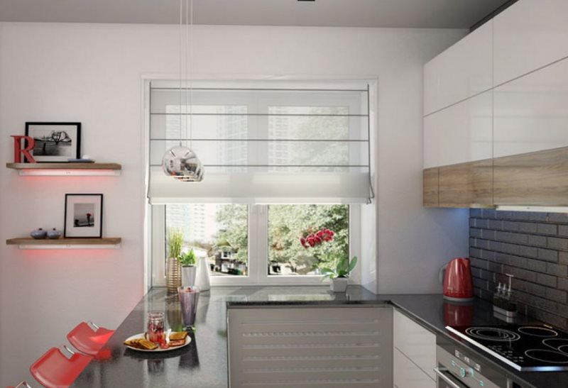 Дизайн кухни с барной стойкой в стиле минимализма