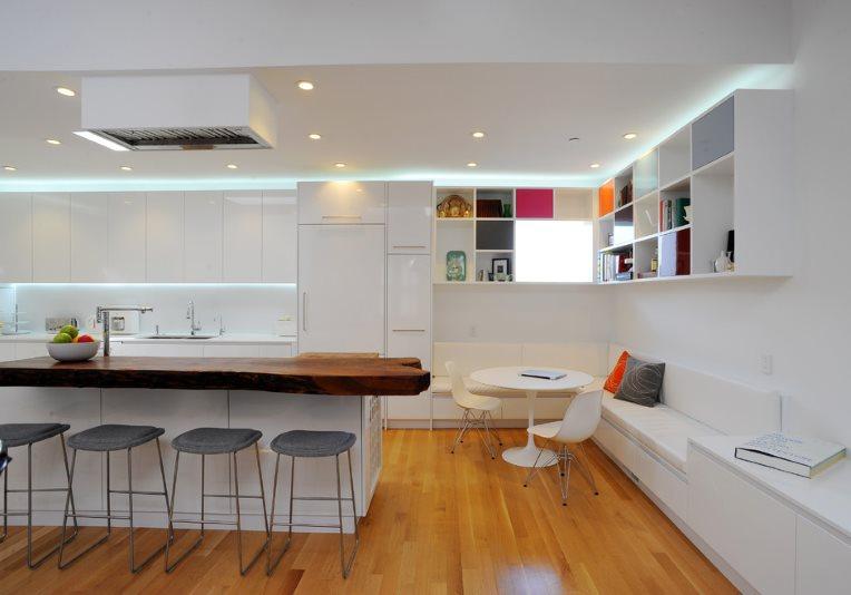 Декоративное освещение кухни в стиле модерн