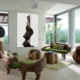 Мебель для гостиной в эко-стиле